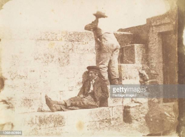 Two Young Men Resting on a Pier, late 1840s. Artist Calvert Jones.