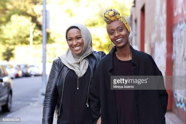 Two young Muslim women enjoying life