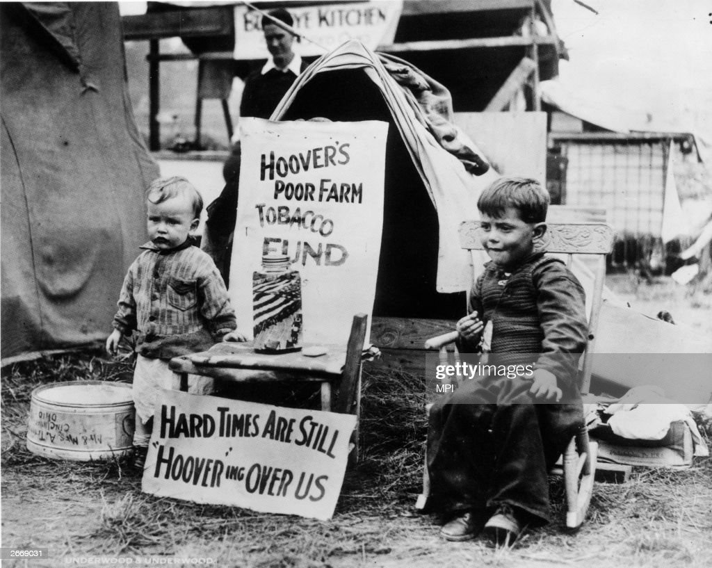 Two Young Residents At A Hooverville Shantytown In