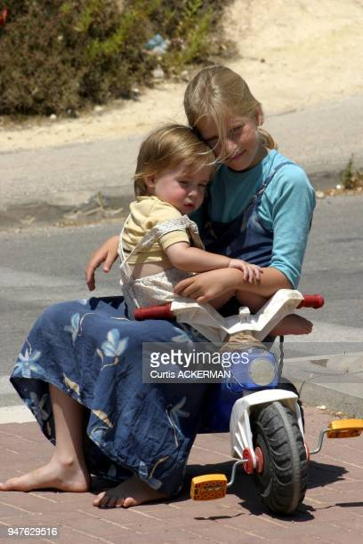 Two young Shilo sisters enjoy the outdoors Shilo is a large West Bank settlement located north of Jerusalem was once a capital of the ancient Hebrew...