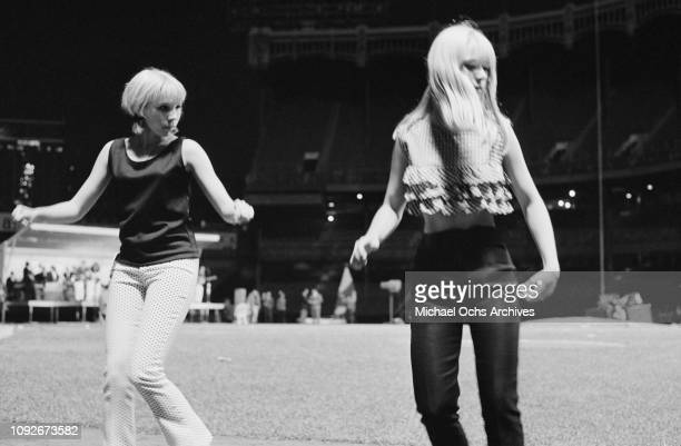 Two young women at Soundblast '66 a music concert at the Yankee Stadium in New York City 10th June 1966