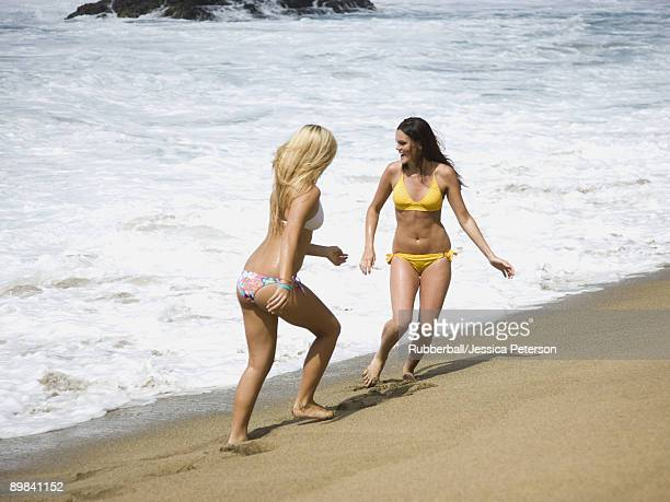 two young women at the beach
