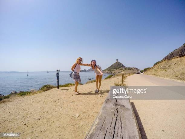 Two Young Women on Summer Vacations