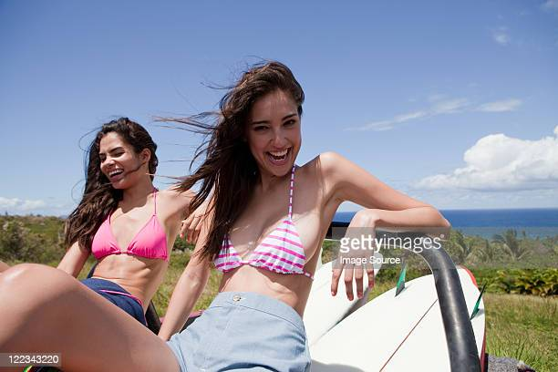 two young women on vacation, portrait - beautiful puerto rican women stock photos and pictures