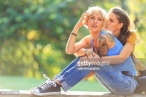 Joven lesbiana caricias películas