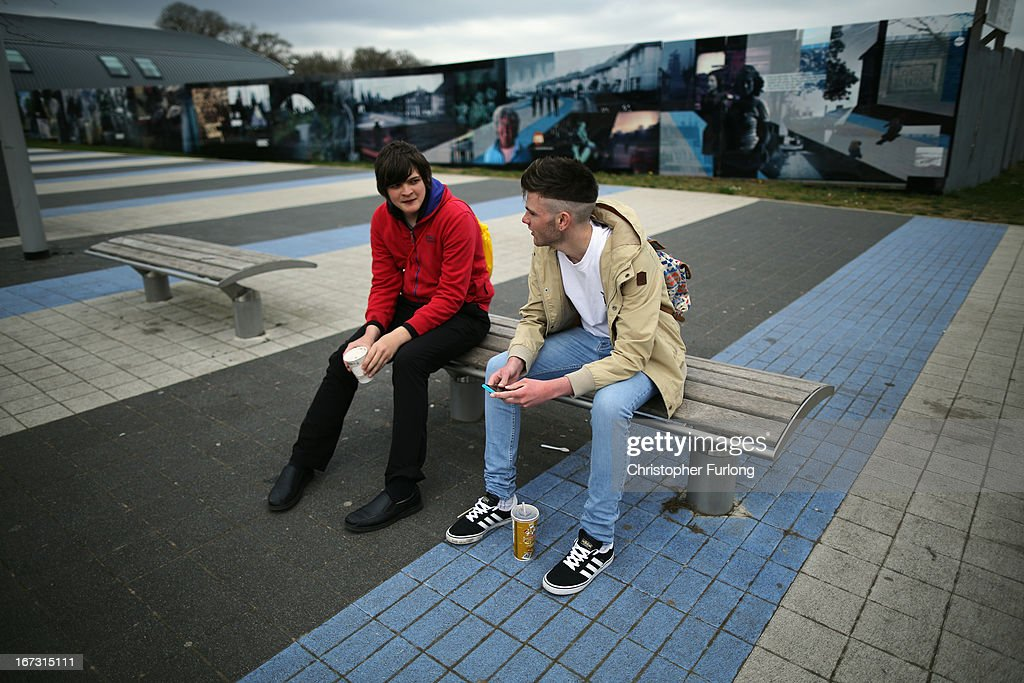 Two youths sit on a bench in the regenerated town centre of Corby, Northamptonshire, the youth unemployment capital of Britain, on April 24, 2013 in Corby, England. A recent study pin pointed Corby as Britain's youth unemployment capital. The study by education specialists Ambitious Minds found that youth unemployment was 11% rising from 4% in 2007. Corby in Northamptonshire was built around its steel industry in the 1930's. The steel works closed in 1980 with the loss of 10,000 jobs.