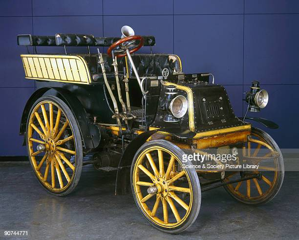 A twocylinder watercooled sixseater Daimler motor car with hot tube ignition built by the Motor Manufacturing Company UK The 1650cc engine produced 6...
