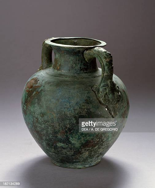 Twohandled amphora uncovered in Togezi Albania Roman Civilisation 2nd century Tirana Museo Archeologico