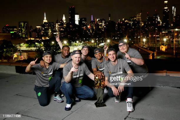 Wolves Gaming poses for a goup photo after Game Five of the NBA 2K League Finals on August 3 2019 at the NBA 2K Studio in Long Island City New York...