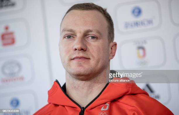 Twoman bobsleigh pilot Francesco Friedrich during the inaugural press conference of the German squad in Pyeongchang South Korea 07 February 2018 The...