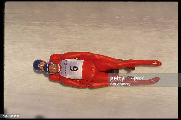 TwoMan Luge Races to the Finish at the 1994 Winter Olympics
