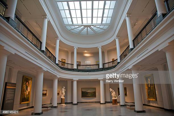 two-story gallery with columns and skylight - ann arbor stock pictures, royalty-free photos & images