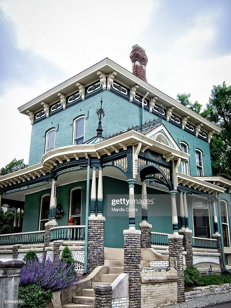 Two Story Victorian Style Brick House Indiana