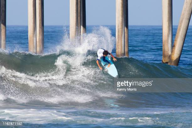 Twotime defending event winner Kanoa Igarashi of Japan is eliminated from the 2019 VANS US Open of Surfing after placing third in Heat 1 of Round 1...