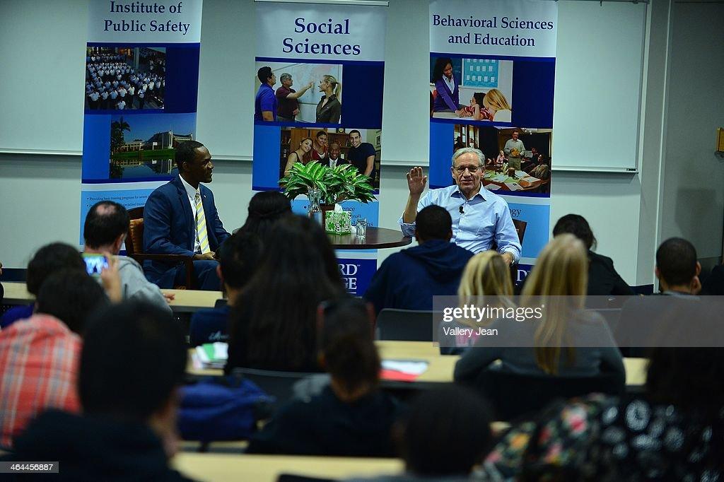 Bob Woodward Speaks at Broward College : News Photo