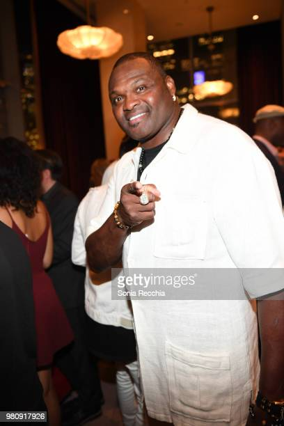 Twotime Super Bowl Champion Neil Smith attends Joe Carter Classic After Party at Ritz Carlton on June 21 2018 in Toronto Canada