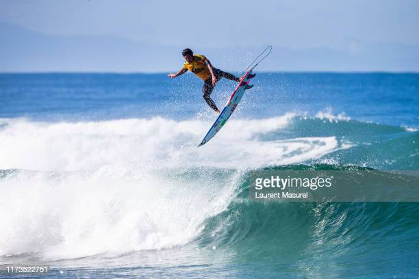 Twotime WSL Champion and defending event winner Gabriel Medina of Brazil wearing the yellow Jeep Leader jersey advances directly to Round 3 of the...