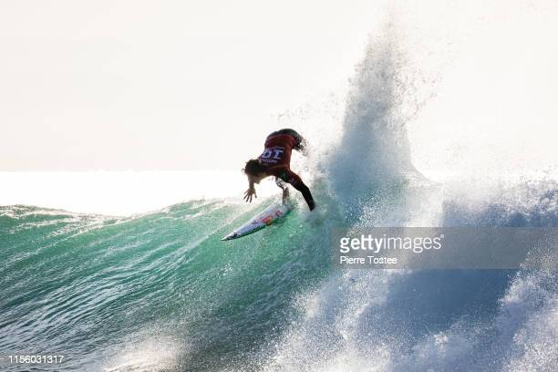 Two-time WSL Champion Gabriel Medina of Brazil advances to the quarter finals of the 2019 Corona Open J-Bay after winning Heat 2 of Round 4 at...