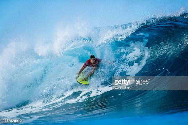 Twotime WSL Champion John John Florence of Hawaii will surf in Round 2 of the 2019 Billabong Pipe Masters after placing third in Heat 8 of Round 1 at...