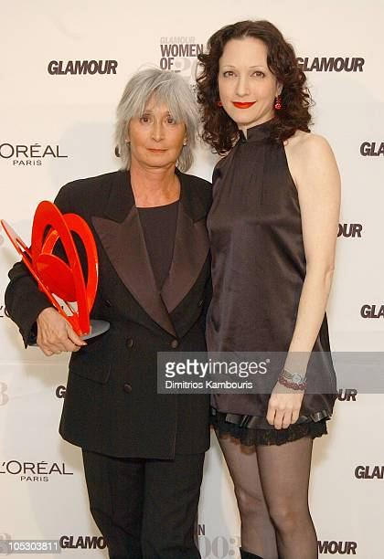 Twyla Tharp and Bebe Neuwirth during 14th Annual GLAMOUR Women of the Year Awards Green Room and Backstage at American Museum of Natural History in...