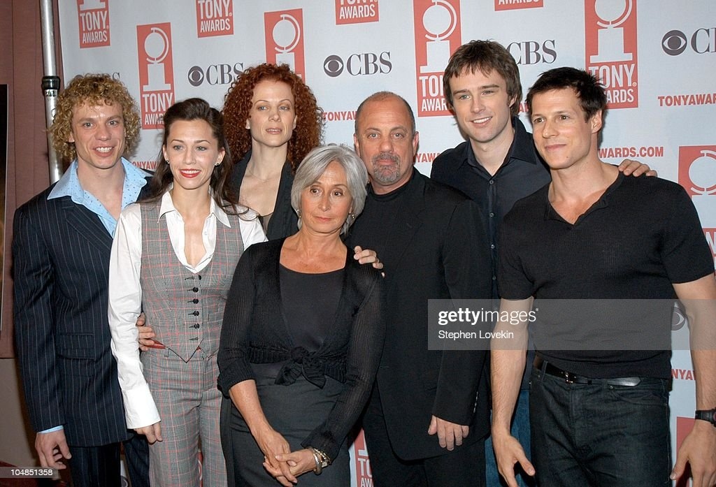 Twyla Tharp and Billy Joel with the cast of 'Movin' Out'