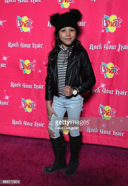 Txunamy attends social media influencer Annie LeBlanc's 13th birthday party at Calamigos Beach Club on December 9 2017 in Malibu California