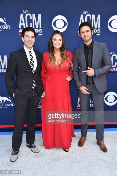 Ty Bentli Tricia TJ Jenkins and Chuck Wicks attends the 54th Academy Of Country Music Awards at MGM Grand Hotel Casino on April 07 2019 in Las Vegas...