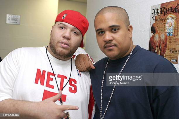 DJ Ty Boogie and Irv Gotti of Murder Inc during Ashanti On The R Kelly Chocolate Factory Tour Backstage at Madison Square Garden in New York City New...