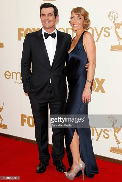 Ty Burrell and Holly Burrell arrive at the 63rd Primetime Emmy Awards held at Nokia Theatre LA Live on September 18 2011 in Los Angeles California