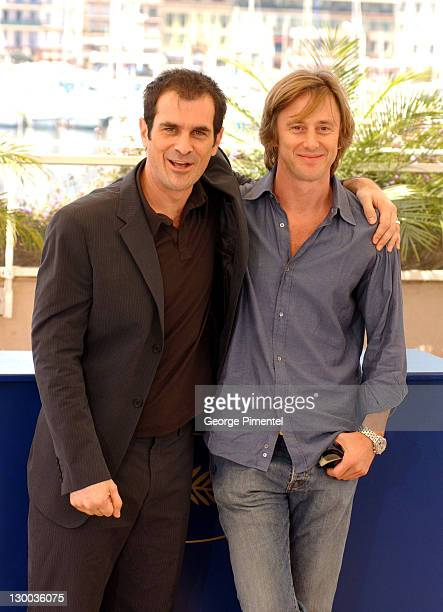 Ty Burrell and Jake Weber during 2004 Cannes Film Festival Dawn Of The Dead Photocall at Palais Du Festival in Cannes France