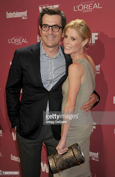 Ty Burrell and Julie Bowen arrive at the 2011 Entertainment Weekly and Women In Film PreEmmy Party at BOA Steakhouse on September 17 2011 in West...