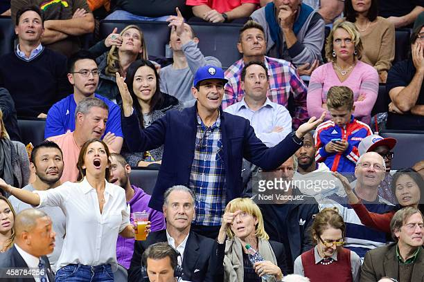 Ty Burrell attends a basketball game between the San Antonio Spurs and the Los Angeles Clippers at Staples Center on November 10 2014 in Los Angeles...