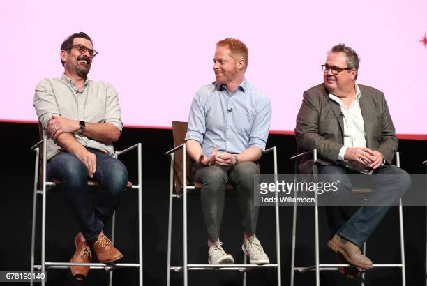 Ty Burrell Jesse Tyler Ferguson and Eric Stonestreet attend ABC's 'Modern Family' ATAS Event at Saban Media Center on May 3 2017 in North Hollywood...