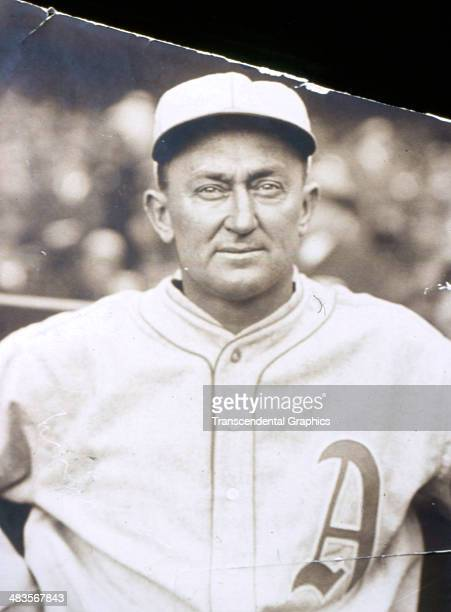 Ty Cobb poses for a portrait in his new Athletics uniform in 1927 in Philadelphia Pennsylvania