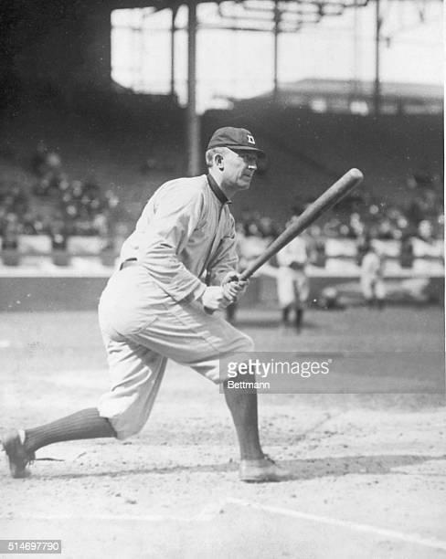 Ty Cobb up at bat . Photograph