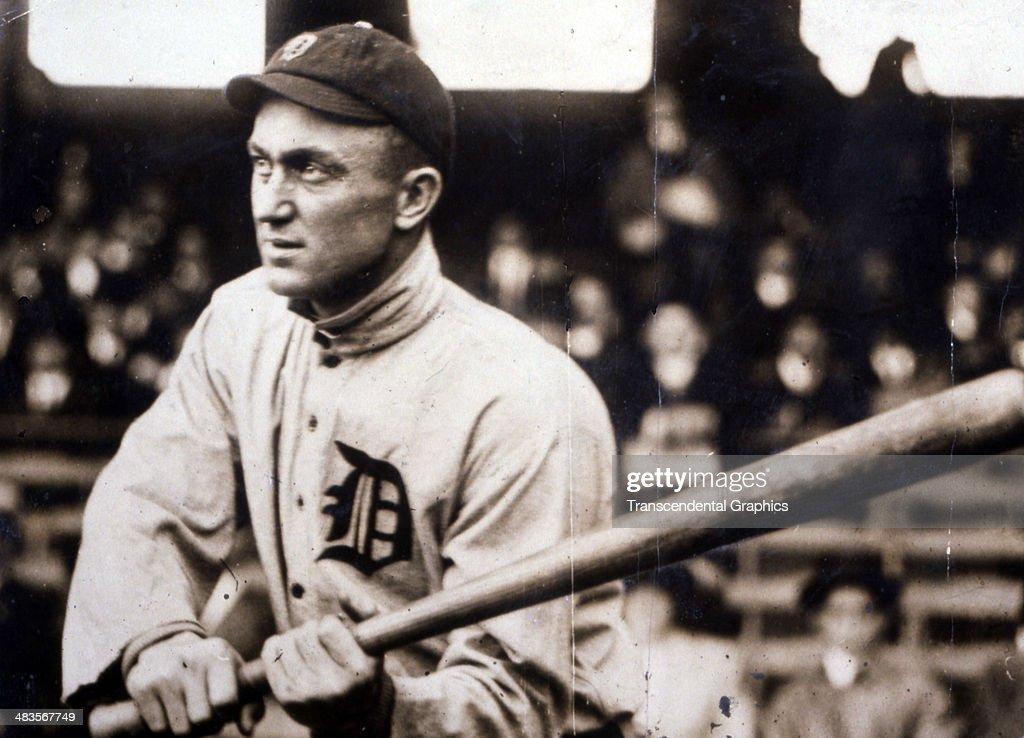 Ty Cobb Checks His Swing : News Photo
