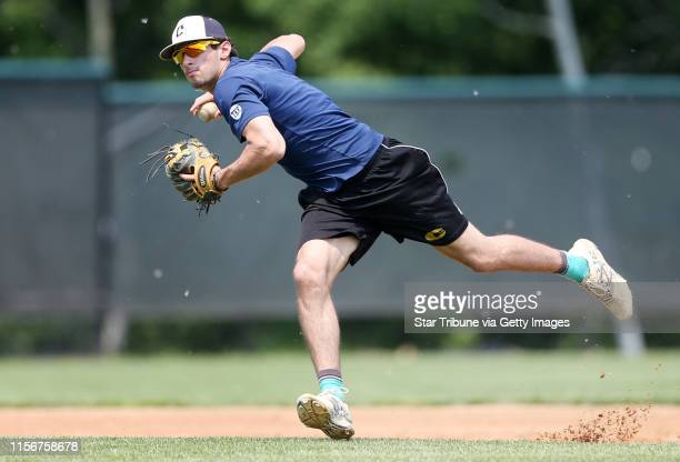 Ty Denzer shortstop on the Chanhassen baseball team practiced Monday June 8, 2015 in Chanhassen, MN.] Chanhassen baseball team will be going to the...