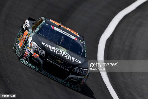Ty Dillon driver of the GEICO Military Chevrolet practices for the Monster Energy NASCAR Cup Series CocaCola 600 at Charlotte Motor Speedway on May...