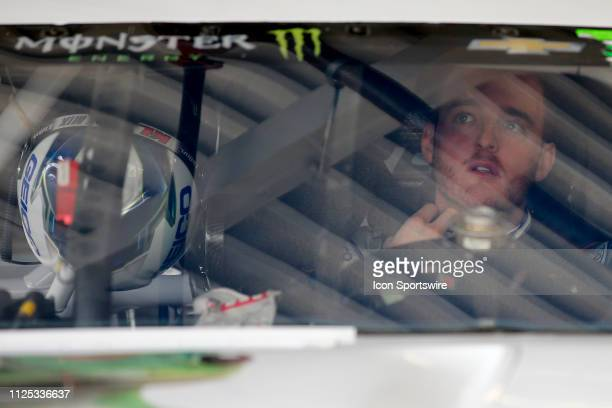 Ty Dillon driver of the Germain Racing GEICO Chevrolet Camaro during final practice for the Daytona 500 on February 16 2019 at Daytona International...