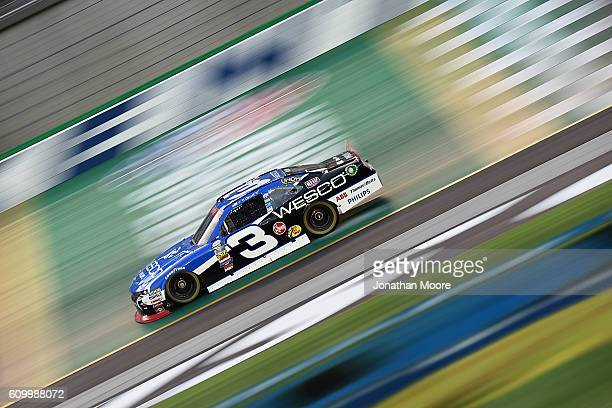 Ty Dillon driver of the WESCO Chevrolet on track during practice for the NASCAR XFINITY Series VysitMyrtleBeachcom 300 at Kentucky Speedway on...