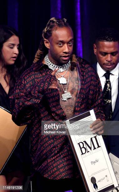 Ty Dolla $ign accepts his award onstage during the 67th Annual BMI Pop Awards on May 14 2019 in Beverly Hills California