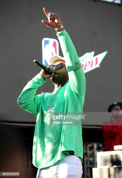 Ty Dolla $ign performs at Mtn Dew Kickstart Courtside Studios at NBA AllStar 2018 in Los Angeles Sunday February 18 2018