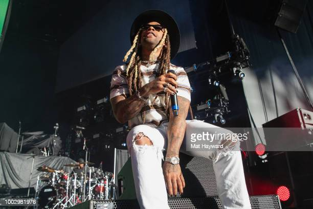 Ty Dolla $ign performs on stage during the Endless Summer Tour at White River Amphitheatre on July 20 2018 in Auburn Washington