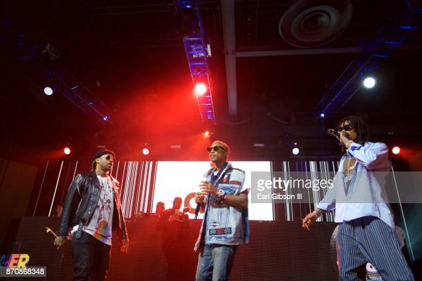 Ty Dolla $ign Pharrell Williams and Wiz Khalifa perform at ComplexCon 2017 on November 5 2017 in Long Beach California