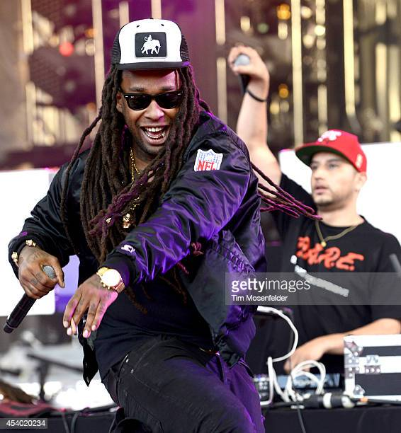 Ty Dolla Sign performs during the Under the Influence of Music Tour at Shoreline Amphitheatre on August 22 2014 in Mountain View California