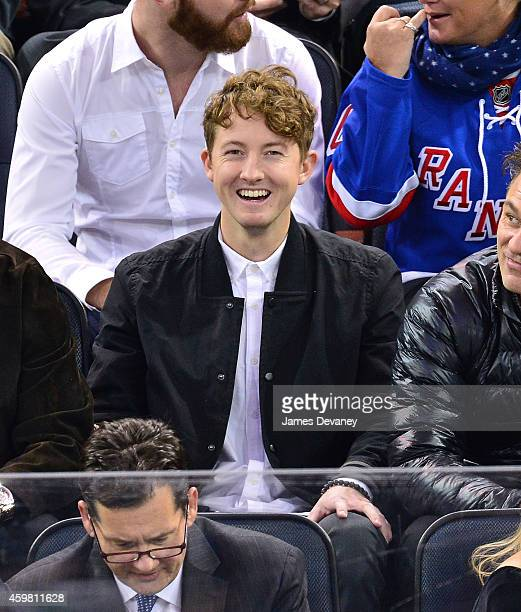 Ty Gretzky attends Tampa Bay Lighting vs New York Rangers game at Madison Square Garden on December 1 2014 in New York City