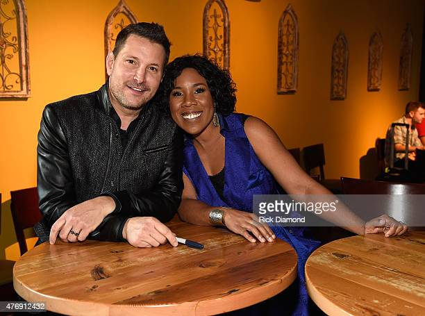 Ty Herndon and Melinda Doolittle attend The Concert For Love And Acceptance at City Winery Nashville on June 12 2015 in Nashville Tennessee