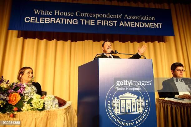 Ty Herndon sings at the 2018 White House Correspondents' Dinner at Washington Hilton on April 28 2018 in Washington DC