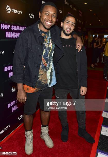 Ty Hickson and Rov Stone arrive at the screening of A24's 'Hot Summer Nights' at Pacific Theatres at The Grove on July 11 2018 in Los Angeles...