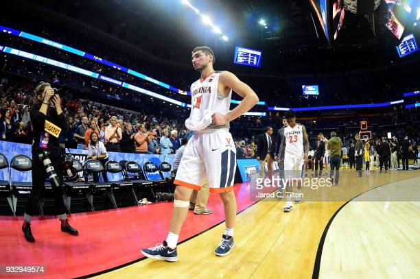Ty Jerome of the Virginia Cavaliers exits the court after their 7454 loss to the UMBC Retrievers during the first round of the 2018 NCAA Men's...